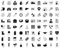 Set of medical icons. Royalty Free Stock Photos