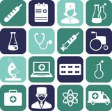 Set of medical icons in flat style. Set of medical icons in flat colorful style Royalty Free Stock Image