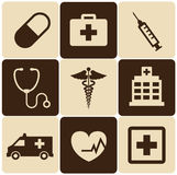 Set medical icons. Flat - vector Stock Photos