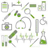 Set of medical icons Royalty Free Stock Photography