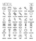 Set of medical icons in modern thin line. Style. High quality black outline medicine symbols for web site design and mobile apps. Simple linear health care Royalty Free Stock Image