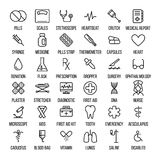 Set of medical icons in modern thin line. Style. High quality black outline medicine symbols for web site design and mobile apps. Simple linear health care Stock Photos