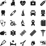 Set of medical icons in simple flat style Royalty Free Stock Images