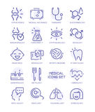Set of medical icons, vector line signs Stock Image