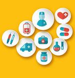 Set medical icons for web design Royalty Free Stock Images