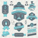 Set of medical labels and tags Stock Photography