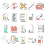 Set of 20 medical line icons. Royalty Free Stock Image