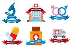 Medical logos. Set of medical medical logos  on white background Stock Images