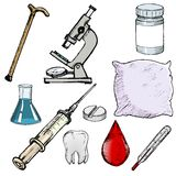 Set of medical objects Stock Photography