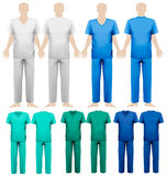 Set of medical overalls. Design template. Royalty Free Stock Image