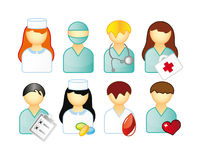 Set of medical people Royalty Free Stock Image