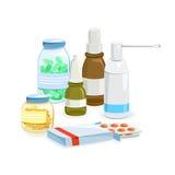Set of medical preparations  Royalty Free Stock Photos