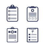 Set Medical Records Clipboard Stock Photography