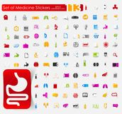 Set of medical stickers Royalty Free Stock Images