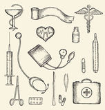 Set of medical supplies Royalty Free Stock Image