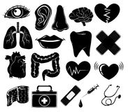 Set of medical symbols Stock Photography