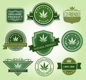 Set of Medicinal weeds emblem Stock Image