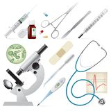 Set of medicine Royalty Free Stock Image