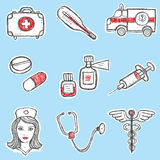 Set of Medicine Elements Royalty Free Stock Images