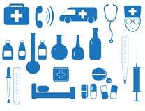 Set of medicine equipment Royalty Free Stock Image