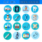 Set Medicine Icon Medical, Chemical Equipment Collection Royalty Free Stock Photo