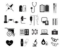 Set of Medicine Icon Vector Illustration Stock Image
