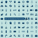 Set of medicine icons Royalty Free Stock Images