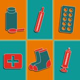 Set of medicine icons Royalty Free Stock Image