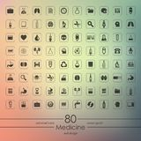 Set of medicine icons Royalty Free Stock Photo