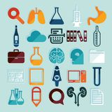 Set of medicine icons Stock Photography