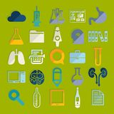Set of medicine icons Stock Images