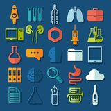 Set of medicine icons Stock Image