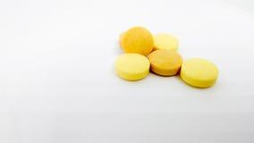 Set of medicine on isolated white background Stock Image