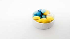 Set of medicine on isolated white background Royalty Free Stock Images