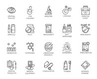 Set of 20 medicine line icons.   Stock Image