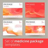 Set of medicine package design with 3d-template. Stock Photo
