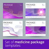 Set of medicine package design with 3d-template. Royalty Free Stock Photography