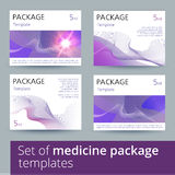 Set of medicine package templates. Stock Photo