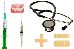 Set of medicine tools Royalty Free Stock Images