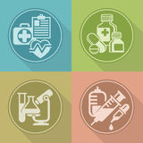 Set of medicines symbols on color Stock Photo
