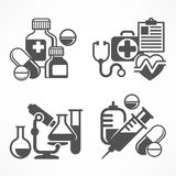 Set of medicines symbols Stock Photography