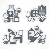Set of medicines symbols Stock Photo