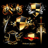 Set of medieval elements Stock Photo