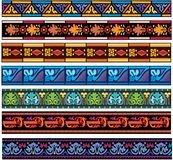 Set of medieval european band patterns Royalty Free Stock Photos