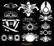 Set of medieval heraldry Royalty Free Stock Photo