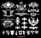 Set of medieval heraldry Stock Photo