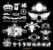 Set of medieval heraldry Stock Photo
