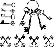 Set of medieval keys Stock Photography