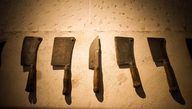 Set of medieval knifes Royalty Free Stock Photo