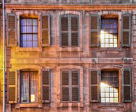 Set of medieval Windows. Set of windows at a medieval building in Geneva's old town Stock Photography